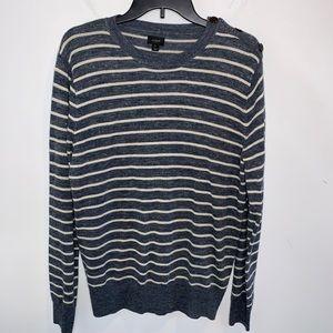 J. Crew Men's Striped Sweater Size M